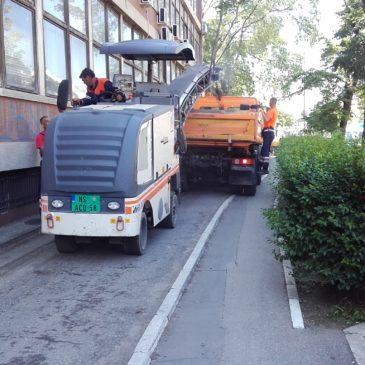 Почели радови на поправци пешачке и бициклистичке стазе у Максима Горког