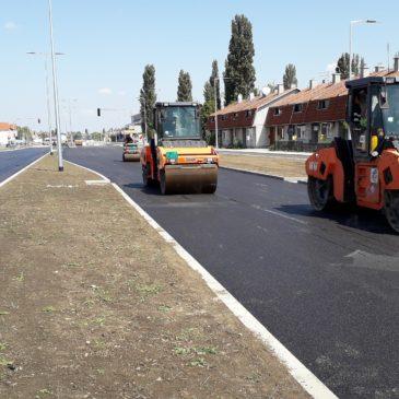 Постављен завршни слој асфалта на делу Сентандрејског пута
