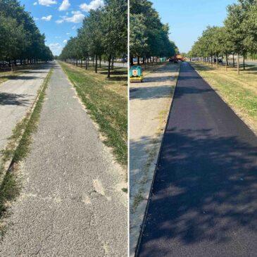 Поправка  бициклистичких стаза у Руменачкој улици